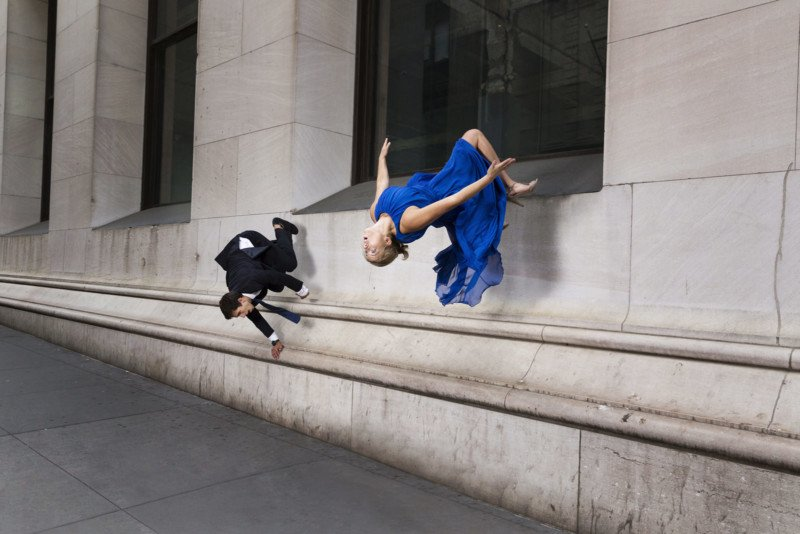 Photos of Parkour Athletes in New York City Wearing Formal Wear