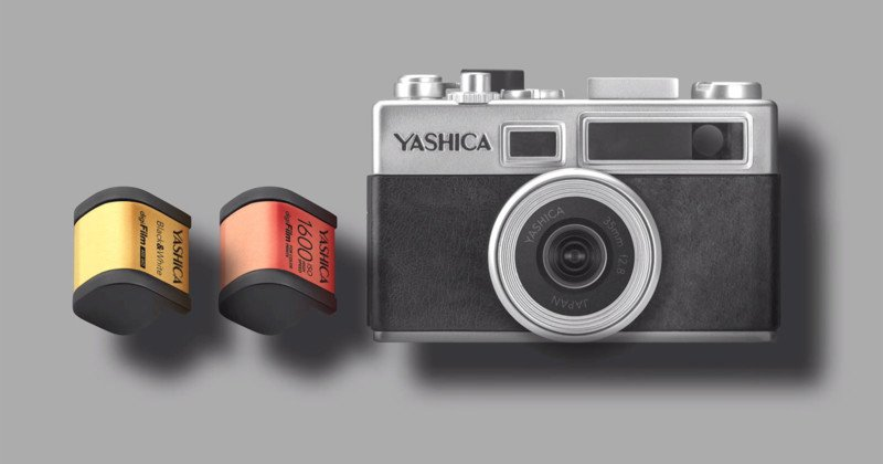 The Yashica Y35 is a 'digiFilm' Camera with Pretend Film Rolls