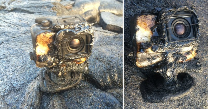 Awesome footage survives after GoPro engulfed by lava in Hawaii