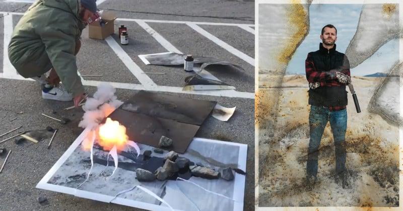 This Photographer Burned Photos by Igniting Gunpowder on Them