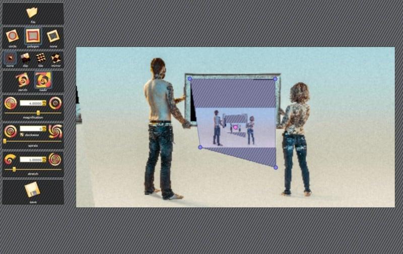 So erstellen Sie ein Droste-Effektfoto in einem Foto in einem Foto