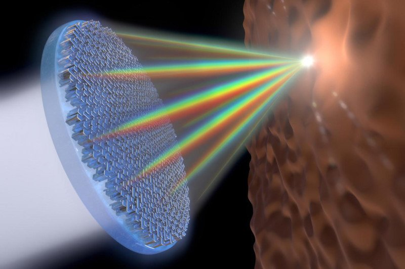 Revolutionary 'Metalens' Can Focus All Visible Light on One Point