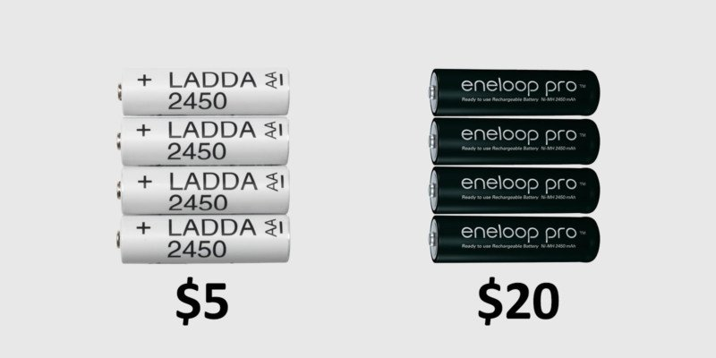 Are $5 IKEA LADDA Batteries Identical to $20 Eneloop Pro Batteries?