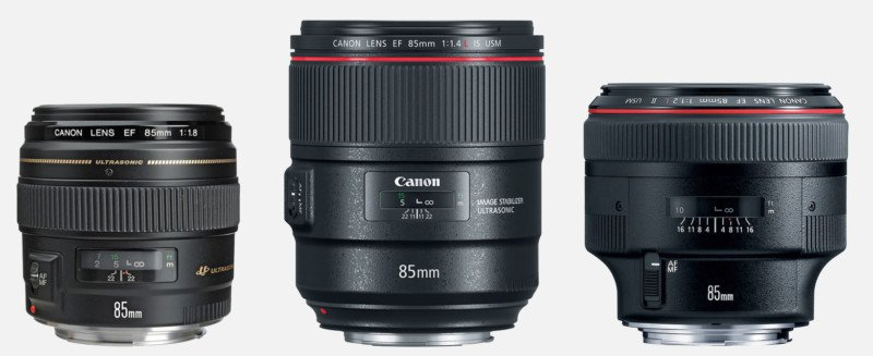 Canon 85mm Shootout: f/1.2 vs f/1.4 vs f/1.8