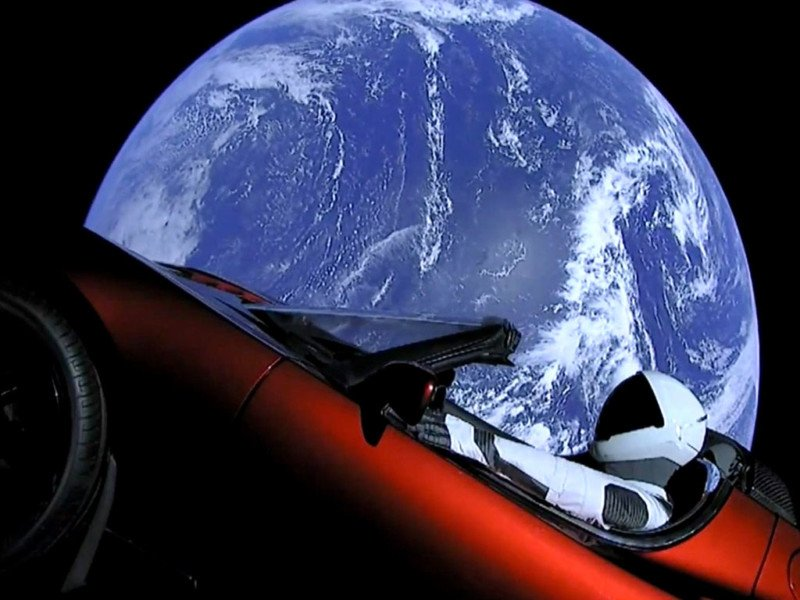 tesla car in space live. tesla car in space live o