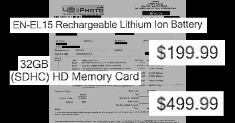 this camera store receipt will make you mad