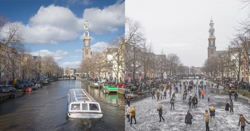See the Netherlands Historically Cold Winter in BeforeandAfter Photos