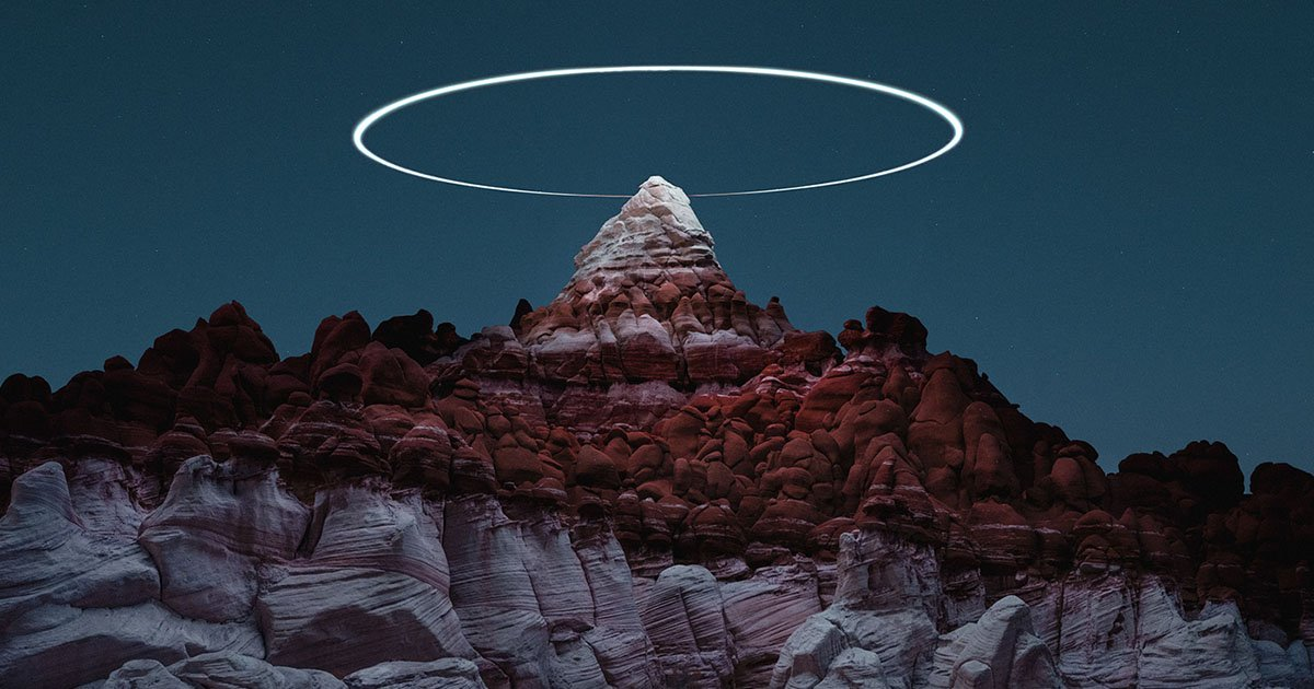 Photographer Captures Halos Above Rock Pinnacles Using Drones