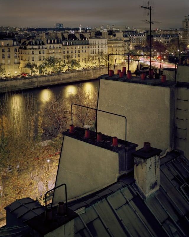 4x5 Large Format Rooftop Photos Of Paris At Night