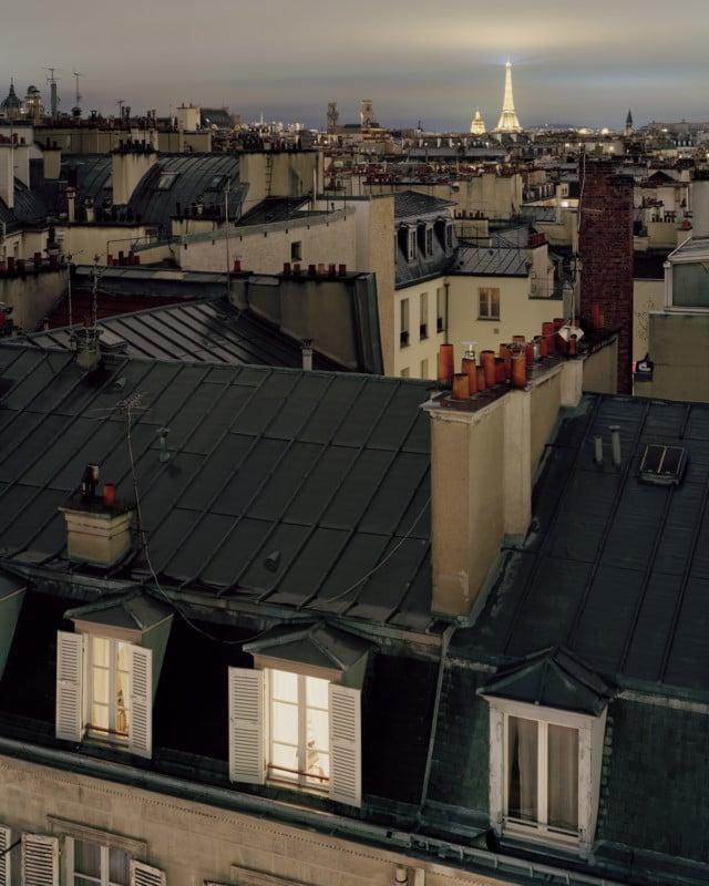 4×5 Large Format Rooftop Photos of Paris at Night