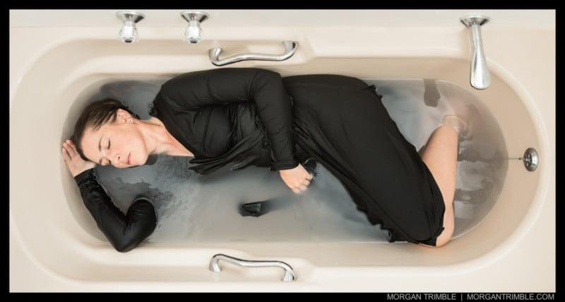 I Shot A Grim Milk Bath Self Portrait To Capture Water Stress In Cape Town