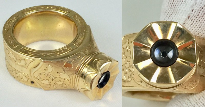 This Unusual Gold Ring is a Rare Soviet Spy Camera Worth $20,000