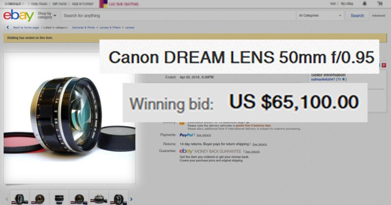 Photographer Finds His Stolen Camera Lens on eBay — It Sells for $65,100