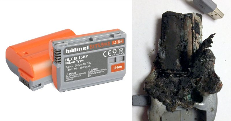 This DSLR Battery Burst Into Flames