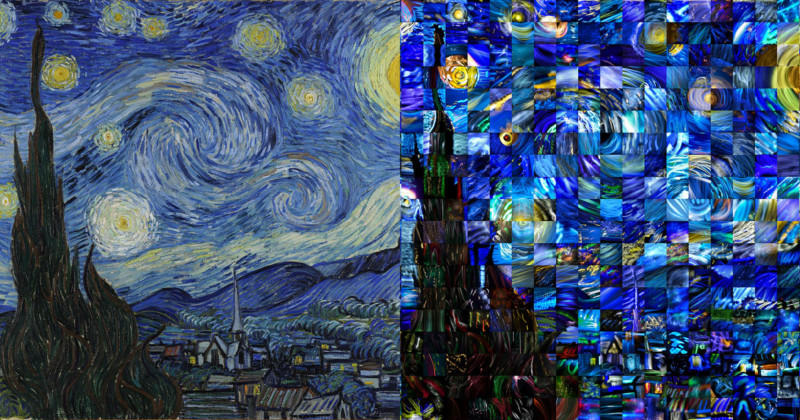 50 Photogs Recreate Starry Night As A Light Painting Mosaic