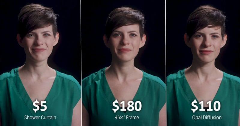 Ein $ 5 Duschvorhang Wunder für diffuses Licht