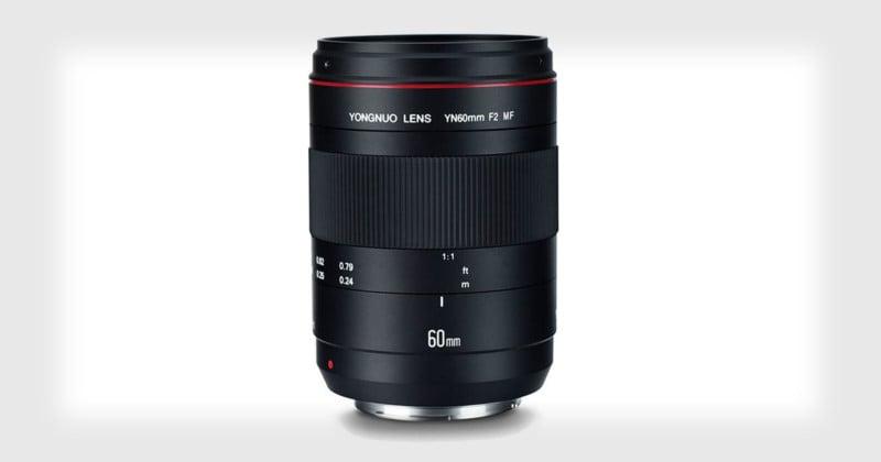 Yongnuo Unveils 60mm f/2 Macro Lens