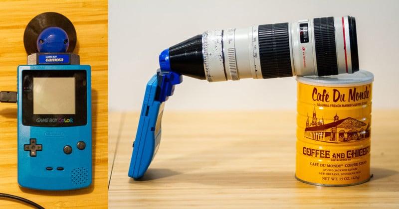 Gila Next Level, acesories game boy kamera, di pasangkan dengan lensa tele DSLR