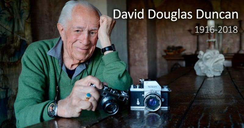 Photojournalist David Douglas Duncan Dies at 102 Daviddouglasduncanobituaryfeat-800x420