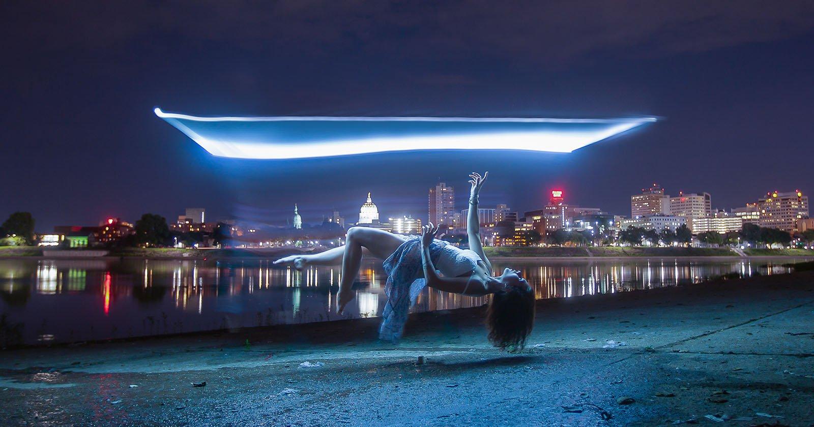 How I Shot a Light-Painting Levitation Portal Photo