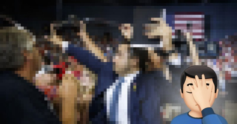 Trump Volunteer Blocks Photographer's Camera, Plan Backfires
