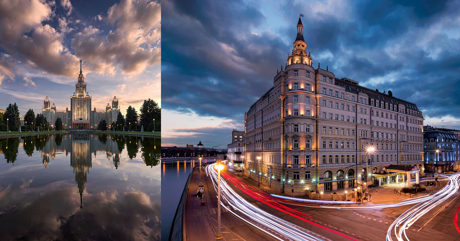 Time-Blended Composite Photos of Moscow