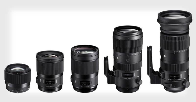 sigma unveils 5 global vision lenses 28mm 40mm 56mm 70 200mm 60