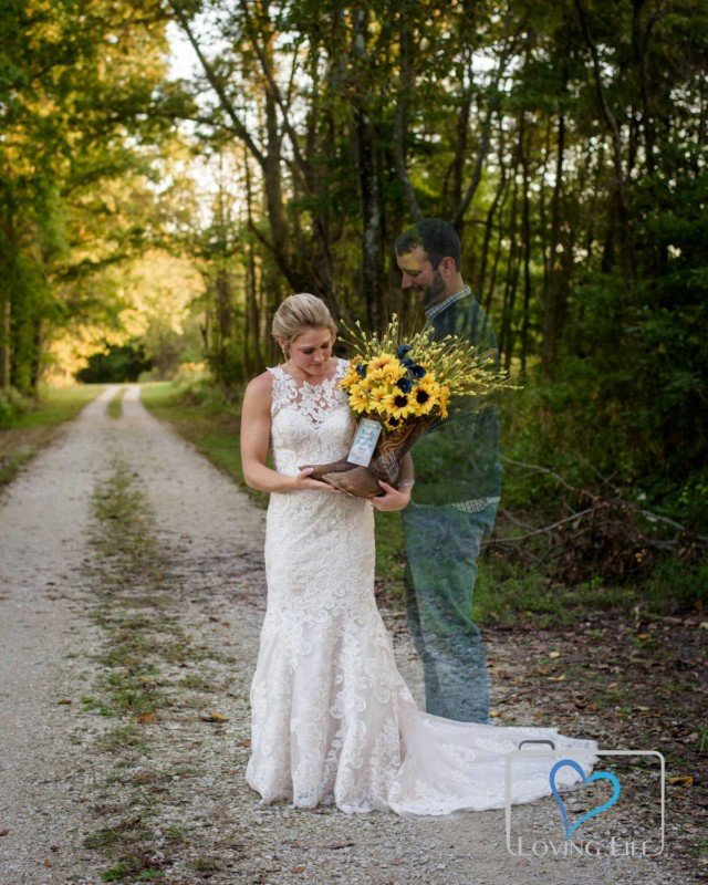 A Widowed Bride's Wedding Photos with Her Groom