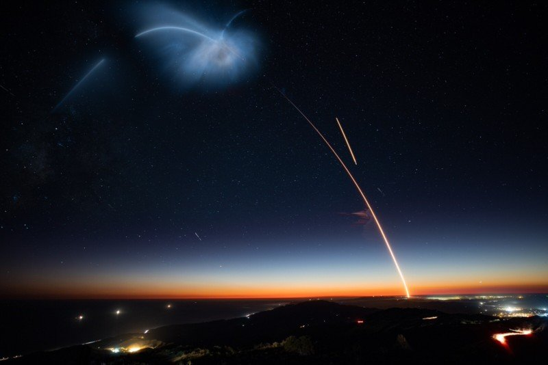 Beautiful Views of the SpaceX Launch that Lit Up the West