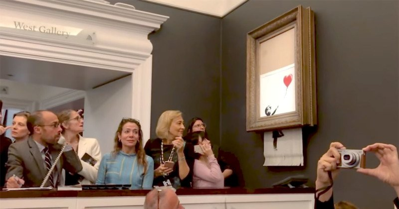 A still frame from Banksy's Director's Cut