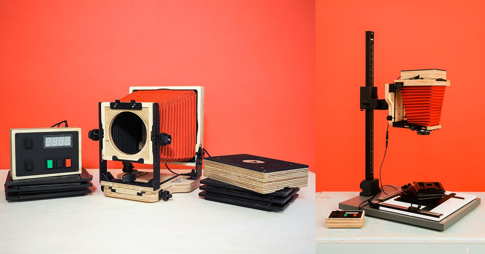 The Intrepid Enlarger Turns Any 4x5 Camera into a Darkroom Enlarger