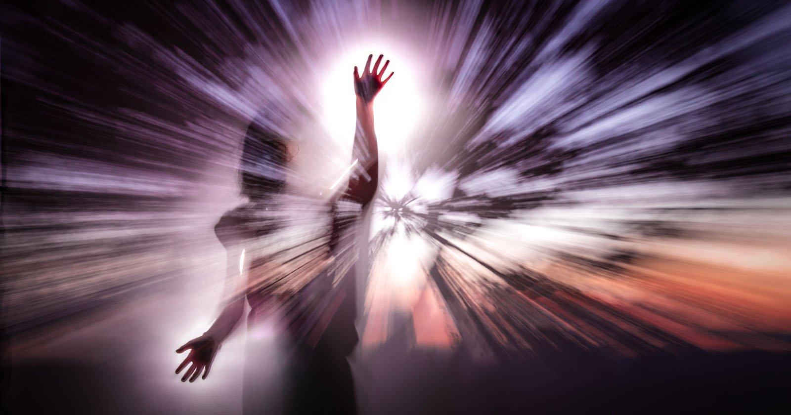 In-Camera-Zoomeffekt - Doppelbelichtung - Lichtmalerei-Fotos
