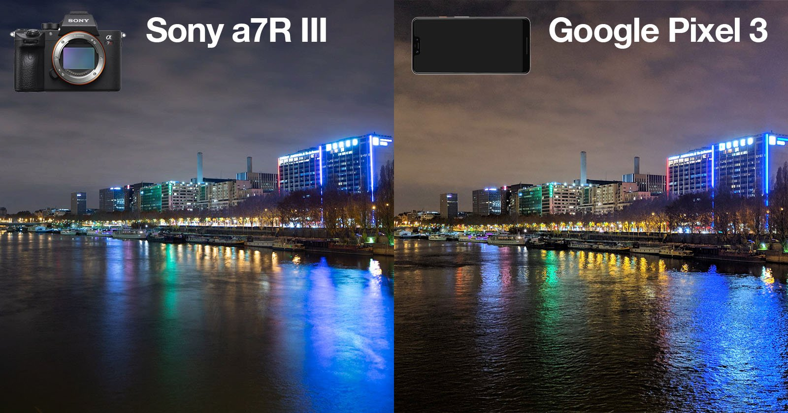 Google Pixel 3 vs  Sony a7R III: A Low-Light Shootout