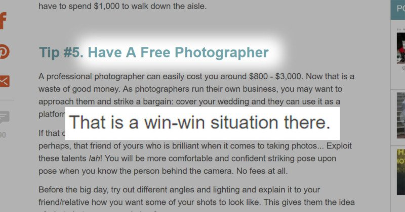 An Old Wedding Advice Article Has Resurfaced Gone Viral And Riled Up A Lot Of Photographers Non Alike
