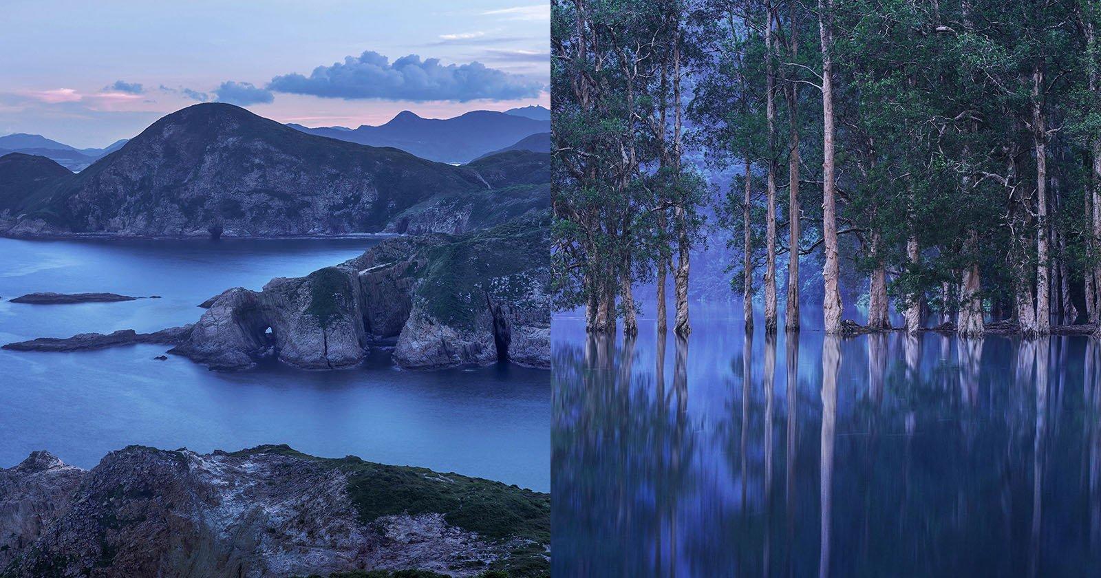 Hong Kong Landscapes at Blue Hour