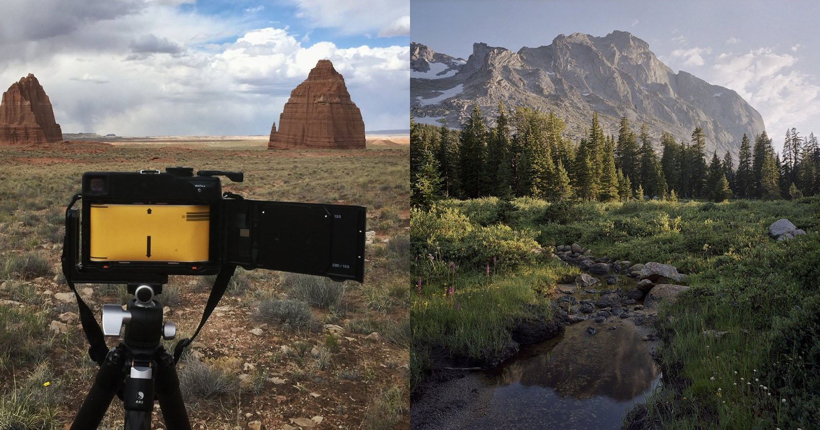 Die Einführung eines digitalen Landschaftsfotografen in den Film