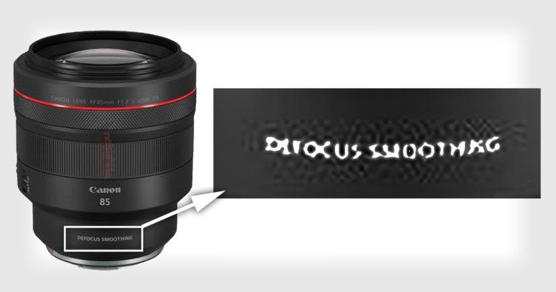 Canon to Unveil a Lens Feature Called Defocus Smoothing (DS)