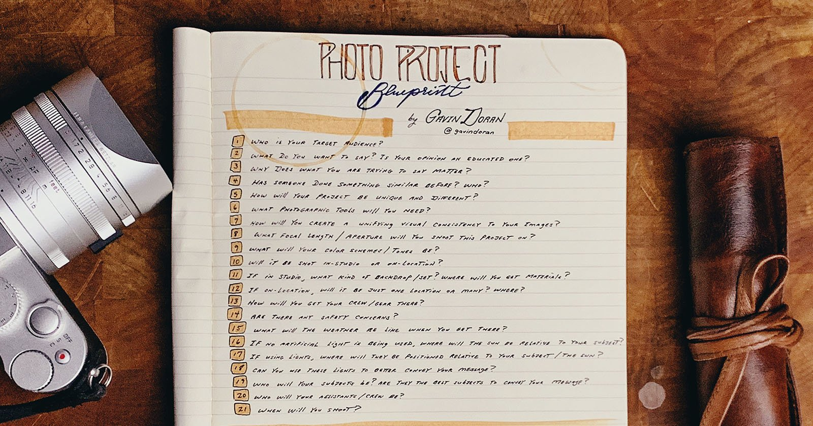 A Photo Project Blueprint: 21 Questions to Ask Before Starting