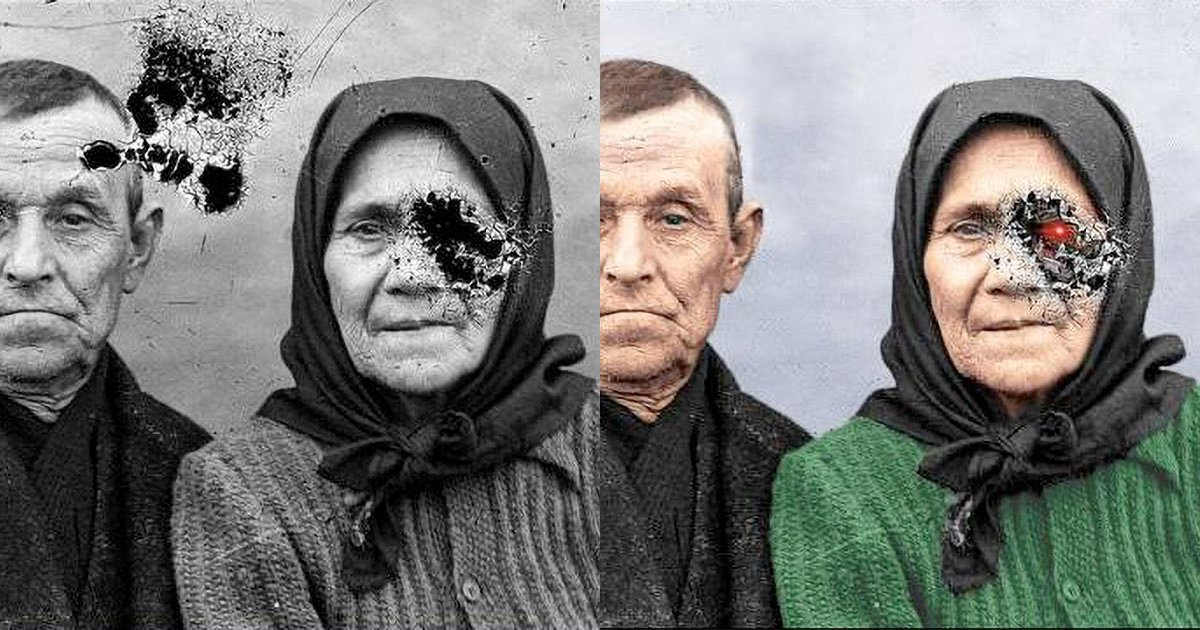How to Colorize and Restore an Old Damaged Photo
