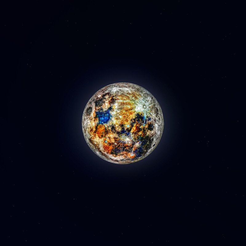 Photographer Uses 150K Moon Photos to Reveal Its Hidden Colors