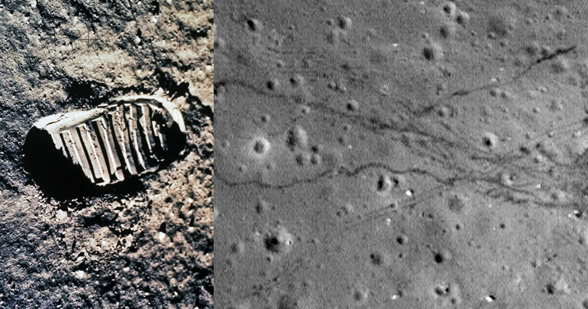 Footprints on the Moon: Photos with a Different View of the Moon Landings