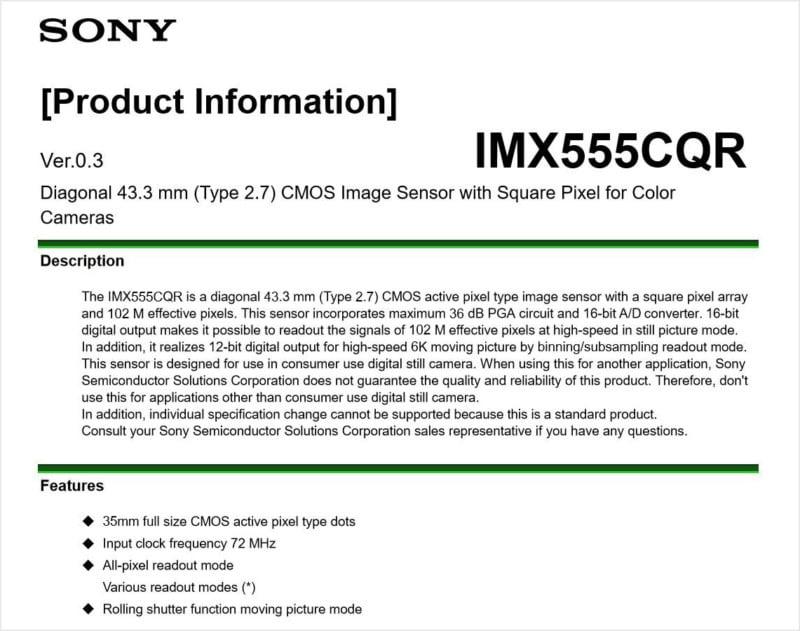 Sony Made a 100MP and 6K Full-Frame Sensor for Consumer Cameras