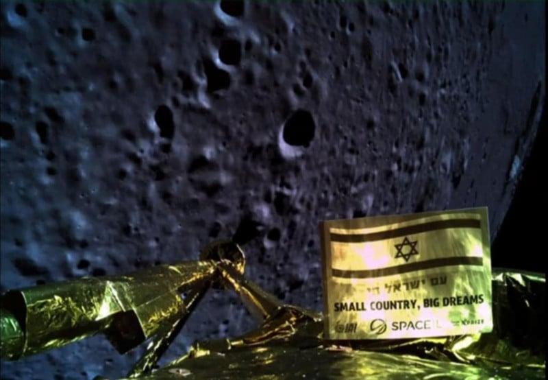 Israeli Spacecraft Snaps Selfie Before Crashing Onto the Moon