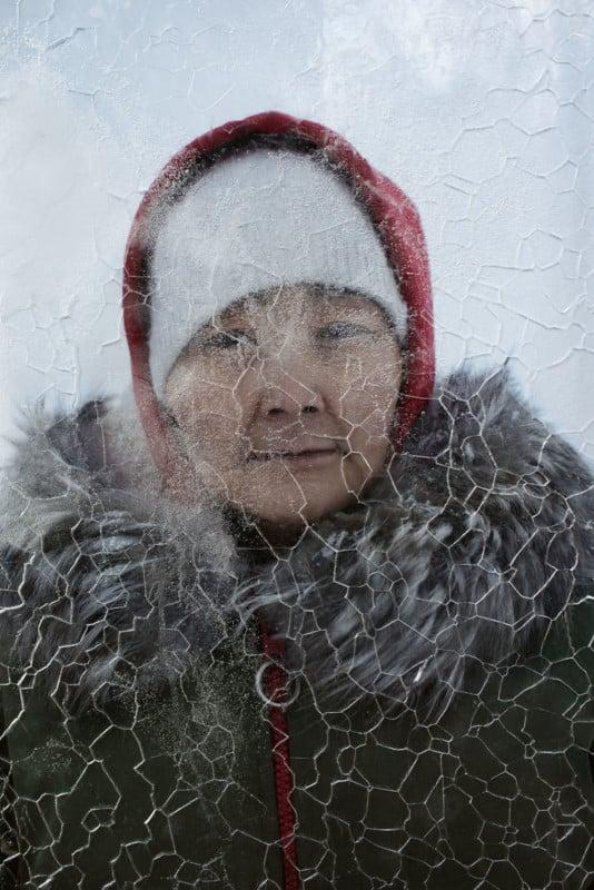 Arctic Photos Exhibited Inside Blocks of Melting Ice