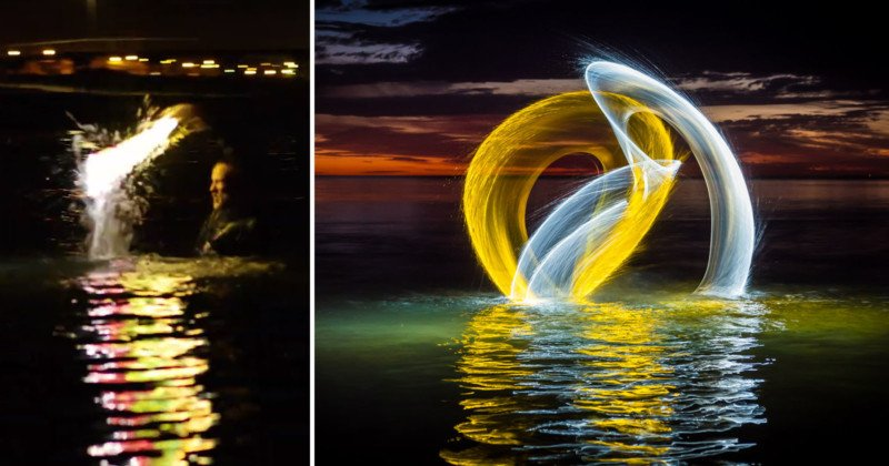 These Light Painting Photos Were Shot by Splashing in Water