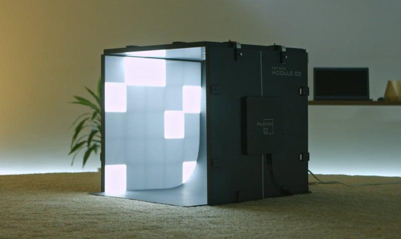 Caja de luz para productos con iluminación LED