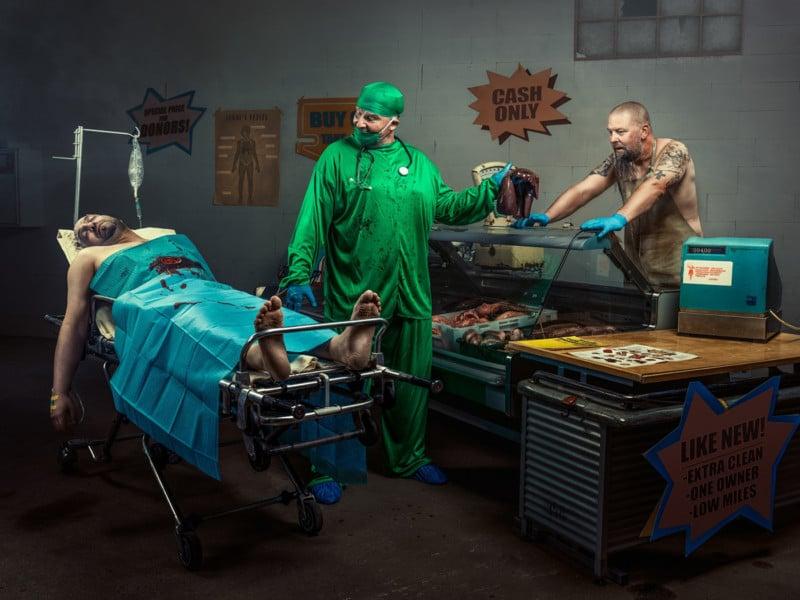 How I Shot a Concept Photo of an Organ Market