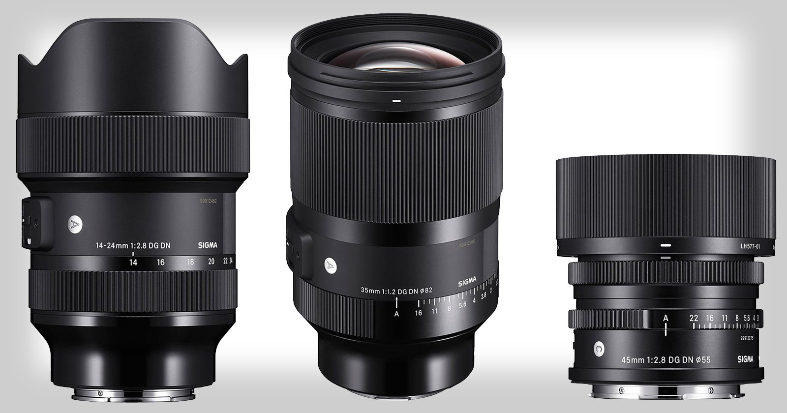 Sigma Debuts 3 Full-Frame Mirrorless Lenses, Including Their First f/1.2 Lens