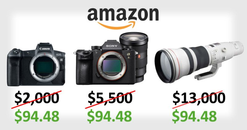 Amazon Accidentally Sold $13,000  Camera Gear for $100 on Prime Day