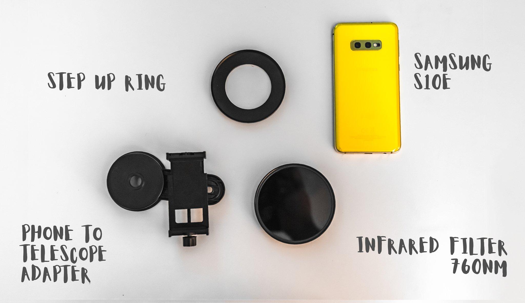 So machen Sie Infrarotaufnahmen mit einem Smartphone